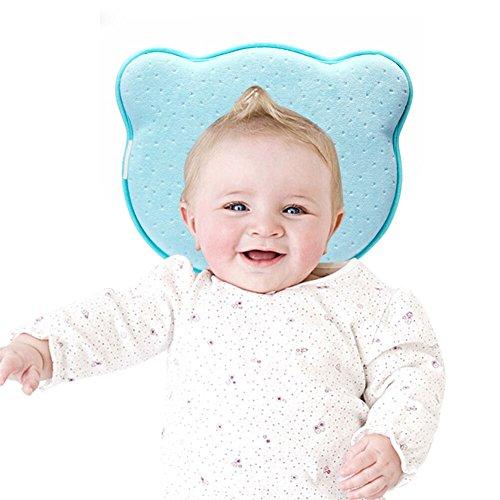 YOOFOSS Babykissen Gegen Plattkopf Baby Kissen Kopfverformung Babykopfkissen Orthopädisches Blau