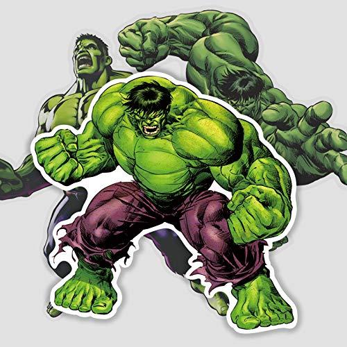 BAIMENG Hulk - Calcomanía de dibujos animados para ordenador portátil, monopatín, impermeable, 17 unidades