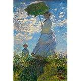 ERZAN風景知育puzzle散歩、日傘をさすクロード・モネの女性マダム・モネと息子ジグソーパズル1000ピース