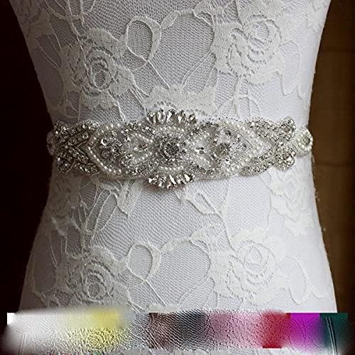 2021 Accesorios para vestidos de novia nupcial Sello de cintura Cinturón de taladro de agua cosido a mano de lujo Cinturón de fotos de fiesta para mujeres embarazadas-Púrpura antiguo, 270cm