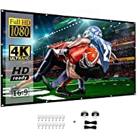 BNMM 120 inch 16:9 4K HD Foldable Anti-Crease Portable 3-Layer Projector Movies Screen