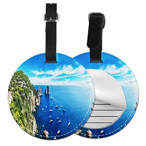 Luggage Tags Aerial Island Summer Suitcase Luggage Tags Business Card Holder Travel Id Bag Tag