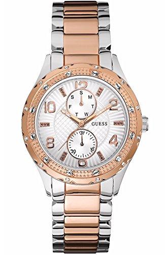 Guess Siren Reloj para Mujer Analógico de Cuarzo con Brazalete de Acero Inoxidable W0442L4