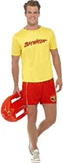 Mens Off Duty Baywatch Lifeguard Stag Do 90s 1990s TV Beach Uniform Fancy Dress Costume Outfit M-L