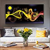 Quadro Senza corniceNordic Abstract Moon Scenario Canvas Bed Room Room Wall Decoration Modern Golden Wall Art canvas30X60cm