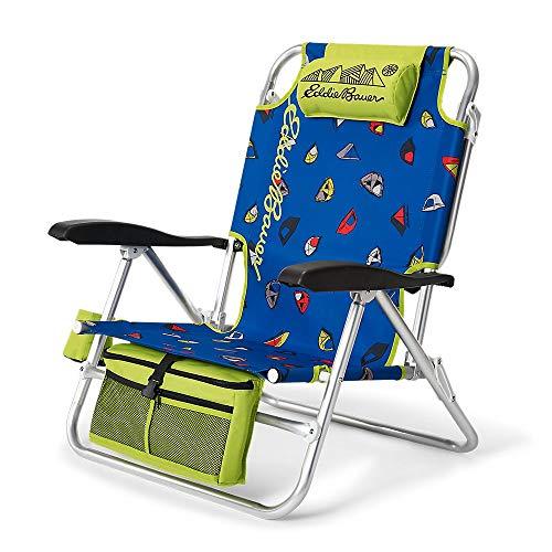 Eddie Bauer Unisex-Adult Backpack Chair, Island Blue Regular ONE SIZE