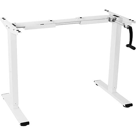 """FLEXISPOT H1W Bureau à manivelle réglable en Hauteur Charge 70 kg Cadre Blanc, 101,6 cm (40"""")"""