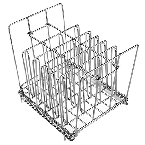 Sous Vide-Rack, zusammenklappbarer Edelstahl Sous Vide-Rack für die meisten 11L Sous Vide Kocher Container herausnehmbaren Separator für Einhängethermostate