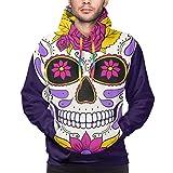 Hunter qiang Sudadera con Capucha para Hombre Depositphotos_214907276-stock-illustration-day-dead-skull-floral-ornament, 3XL Sweatshirt