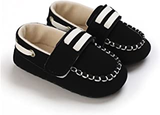 Unisex Baby Shoes Infant Toddler PU Leather Pre-Walkers Hook Loop Anti-Slip Bottom Safe Soft Shoes (Baby Age : 13-18 Month...