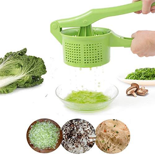 OLIYA, Grüner Salatschleuder, manuell, für Obst und Gemüse, schnelle Entwässerung, Trocknerpresse, multifunktional, Wasserdruck, Obstsalat, Salat, Filter (klein (34 cm 13,8 cm 8,5 cm)