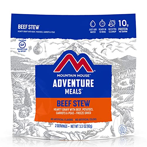 Mountain House Beef Stew | Freeze Dried Backpacking & Camping Food | 2 Servings | Gluten-Free