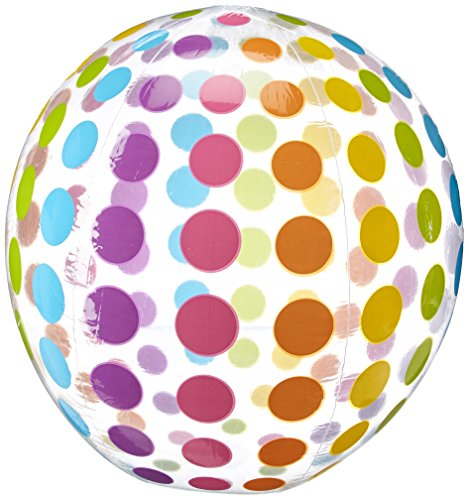 Intex Jumbo Inflatable Colorful Polka Dot Giant Beach Ball (Set of 2)   59065EP