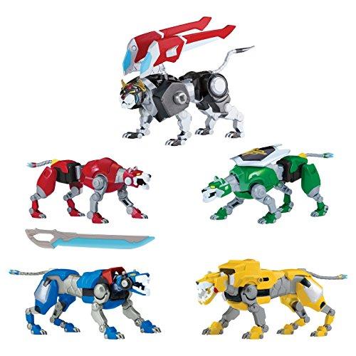 Voltron Legendary Defender Set of 5 Combining Lions Action Figures - Forms 8' Figure