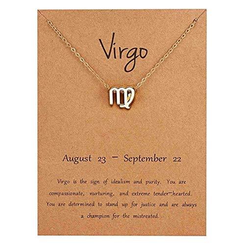RSTP Elegante Virgo 12 Constelación Zodiaco Símbolo Colgan