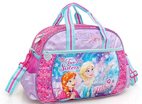Unbekannt Frozen Die Eiskönigin Kinder Sporttasche Sport Tasche Reisetasche Tragetasche