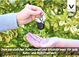 Premium Schutzengel Schlüsselanhänger von VULAVA - der edle Engel Anhänger u. Glücksbringer mit Herz ist die Geschenk Idee für Kinder Partner Führerschein Auto u. Motorrad Fahrer (Silber Glänzend) - 4