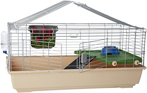 AmazonBasics Small Animal Cage Habitat With Accessories - 42 x 24...