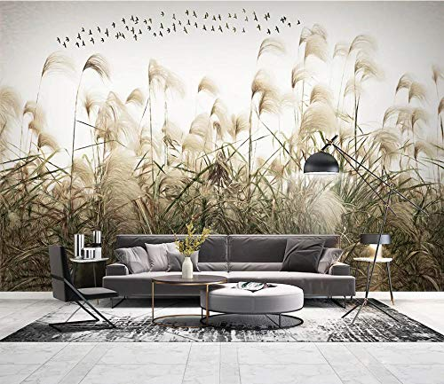 Fototapete Gras pflanzen 3D Vlies Tapete Moderne Wanddeko Design Tapete Wandtapete Wand Dekoration TV Hintergrundwand,140cmx100cm