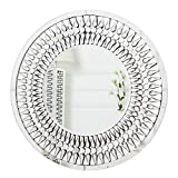 RICHTOP Espejo de Pared Redondo Grande Diseño Elegante Moderno con joyería de...