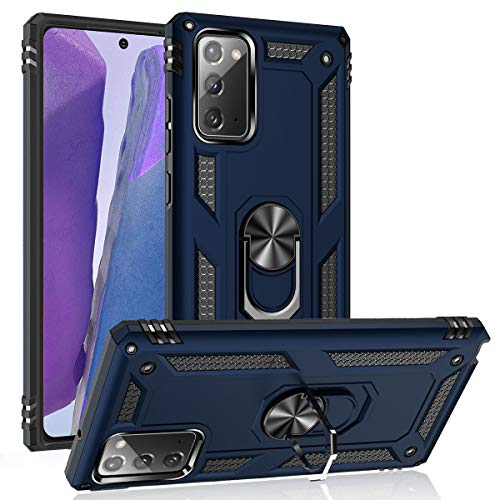 Note 20 Ultra Case,[ Military Grade ] 15ft. Drop Tested Protective Case with Magnetic Car Mount Ring Holder Stand Cover for Samsung Galaxy Note 20 Ultra/Note 20 Ultra 5G - Blue