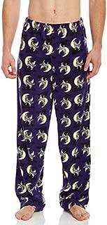 Image of Fleece Howling Wolf Pajama Pants for Men