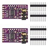 AITRIP 2 pcs PCM5102 I2S IIS Lossless Digital Audio DAC Decoder Module Stereo DAC Digital-to-Analog Converter Voice Module Compatible with Arduino Raspberry Pi