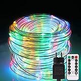 Cadena de luces exterior B-ight Manguera de luz LED, Cadena Luz con Mando a operable, impe...