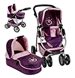 Knorrtoys Puppenwagen Coco 2in1 inkl. Puppenwanne (Berry Princess)