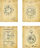 Watch Patent Wall Art Prints - set of Four (8x10) Unframed - wall art decor for any watch lover
