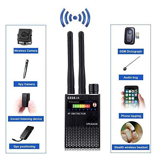 WJSW Fehlerdetektor Frequenzscanner GPS-Tracker Signal hören Drahtloser Detektor Versteckte Kamera Laserlinse Abhörgerät Finder Radar