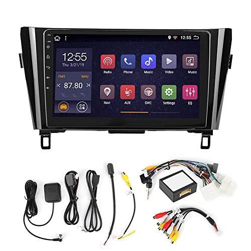 KIMISS Car MP5 Player, 10.1in 2Din Car GPS Navigation Stereo FM Radio MP5 Player para Android 9.1 Se adapta a X-Trail/Qashqai