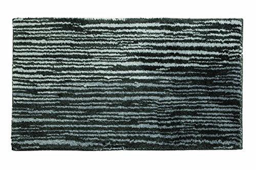 SCHÖNER WOHNEN-Kollektion, Mauritius, Badteppich, Badematte, Badvorleger, Design Streifen - anthrazit, Oeko-Tex 100 zertifiziert, 70 x 120 cm