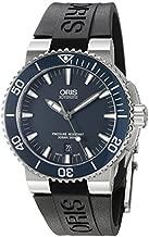 Oris Aquis Date Mens Blue Dial Black Rubber Strap Automatic Watch 73376534155RS