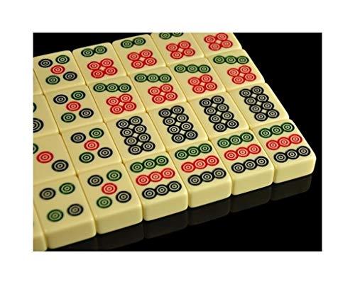 MLX Mahjong , Mahjong-Set , Mahjong-Kartenreiseanzüge, beige kleine Spielsteine, Heimhand-Reiben Mahjong, 4.2.23.2 * 2.2CM (Color : A)