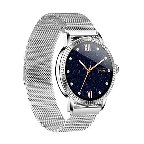 Smart Watch Actividad De Cristal Templado Impermeable Rastreador De Fitness Monitor De Ritmo Cardíaco Brim Menor Y Mujer Smartwatch CF18P,B