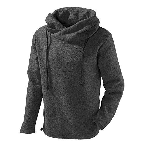 Mufflon® Damen/Herren Walk-Pullover Lucca Schurwolle Granit M (52)
