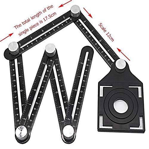 Multi Angle Mess Lineal, Winkelmesslineal for die DIY Handymen Builders Zimmerer, Fliesenleger, Handwerker