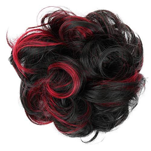 PRETTYSHOP XL Haarteil Haargummi Hochsteckfrisuren Brautfrisuren Voluminös Gelockt Unordentlich Dutt Rot Mix G30E