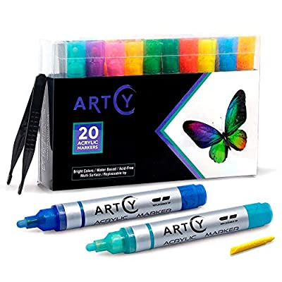ARTCY Paint Pens Water-Based Acrylic Markers Se...