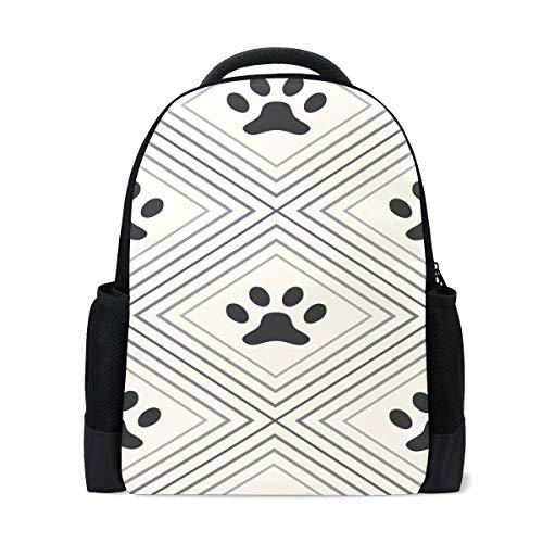 FANTAZIO - Mochila con colgantes para perro, diseño de huella de perro