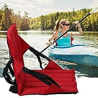 カヤックシート 二重使用 インフレータブルボート座席 携帯用競技場の座席 網 通気性 軽量 滑り止め 持ち運び便利