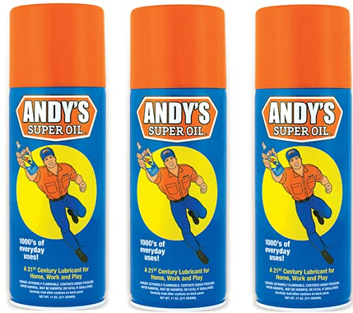 Andy's Super Oil - The World's Best Spray Lubricant (Three-Pack)