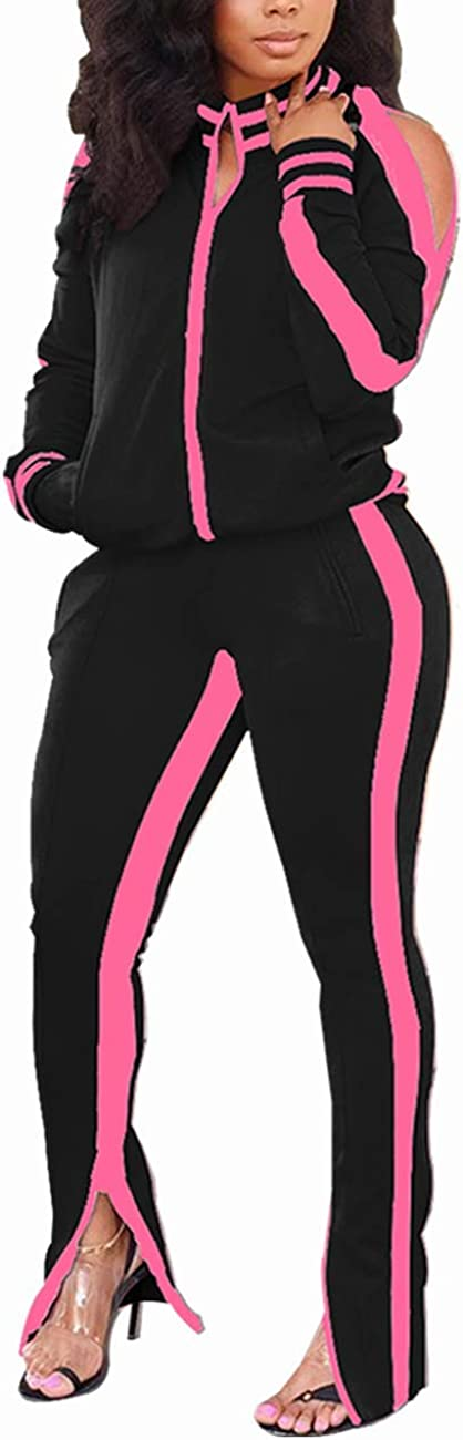 TOPONSKY Women Excellence Daily bargain sale Casual 2 Piece Outfit Pant Tr Sweatsuits Set Long
