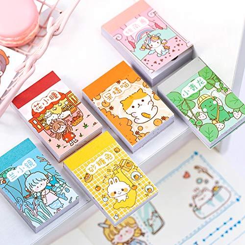 PMSMT Lindo pequeño Diario de la Serie de albóndigas Decorativo Kawaii papelería Japonesa Pegatinas de Libro Scrapbooking DIY Diario álbum Stick Etiqueta