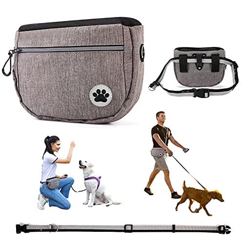 CkFyahp Hunde Leckerlie Tasche, Futterbeutel für Hunde Wasserdicht Futtertasche Leckerli-Beutel für Hundetraining Leckerlibeutel mit Schnappverschluss Gürtel