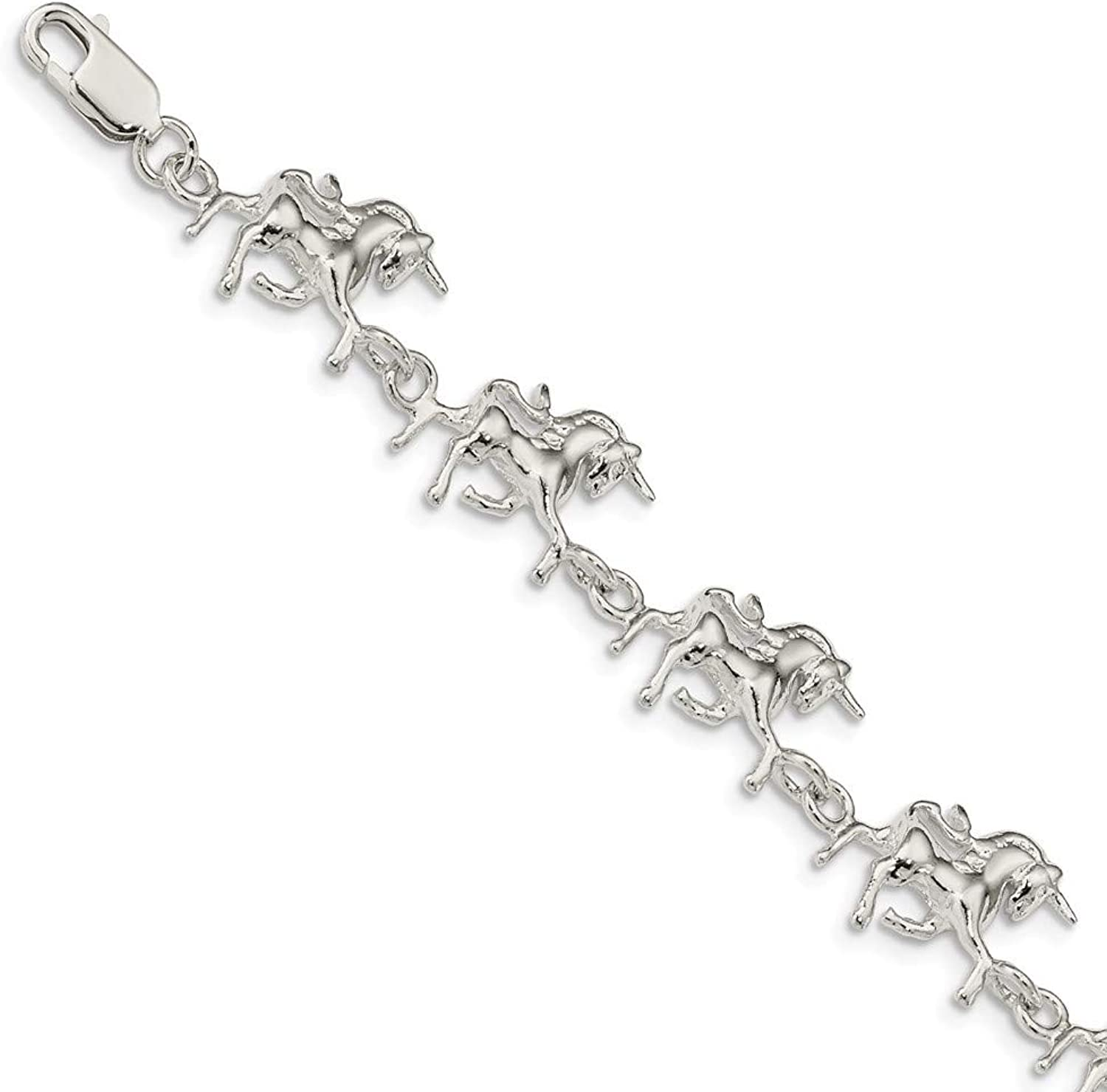 Beautiful Sterling silver 925 sterling Sterling Silver Unicorns Bracelet