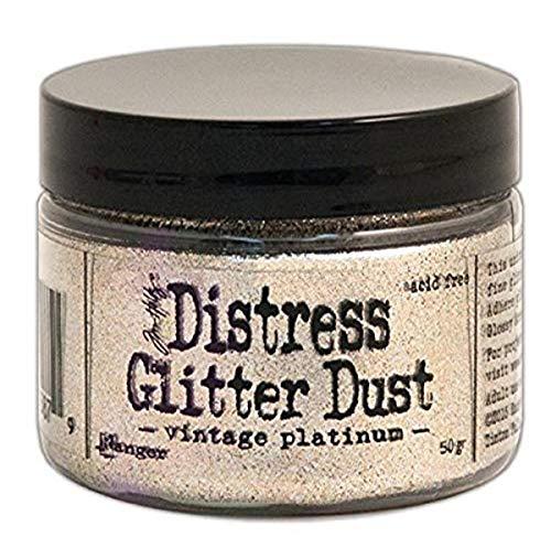 """Ranger """"Platine Vintage Distress Glitter poussière"""