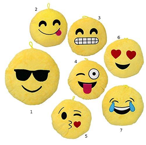 """Smiley Emoticon Kissen Sofakissen """"1"""" Plüsch 22cm *NEU*OVP*"""