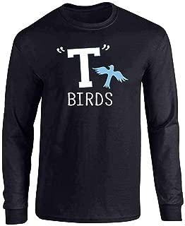 T Birds Tbird Costume Men Gang Logo Retro 50s 60s Full Long Sleeve Tee T-Shirt
